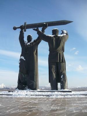 Statue à Magnitogorsk