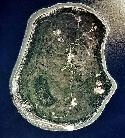 Vue aérienne de Nauru
