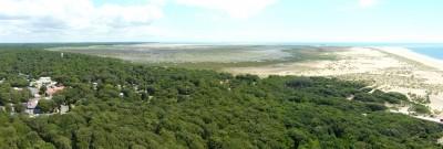 Panorama de ce qu'on voit au sud-est du phare