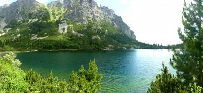 Panorama du lac Popradské pleso