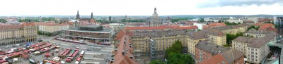 Panorama de Dresde depuis la Kreuzkirche