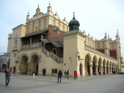 La fameuse Halle aux draps de Cracovie